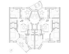 Knapkiewicz & Fickert | Aktuell Architecture Drawings, Architecture Plan, Residential Architecture, Craftsman Floor Plans, Floor Plan Layout, Loft Interiors, Plan Drawing, Model Hobbies, Desert Homes
