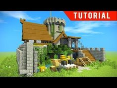 Minecraft: How to make a castle / Survival base for friends! Lets make a castle fort in a survival base tutorial with everything you need to survive. Minecraft Fort, Minecraft Building Designs, Minecraft Bridges, Mojang Minecraft, Minecraft Video Games, Easy Minecraft Houses, Minecraft House Tutorials, Minecraft Castle, Minecraft Construction