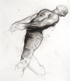 """Steve Huston study for his painting""""Draw""""."""
