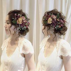 * ************************* stylish flowers style ************************* * * #ブライダルヘア#ブライダルヘアメイク#ヘアアレンジ#ヘアセット#ヘアメイク#ヘアスタイル#前撮り#ウェディングヘア#ウェディングドレス#カラードレス#ウェディング#結婚#結婚式#結婚式準備#プレ花嫁#花嫁#卒花#卒花嫁#出張ヘアメイク#2017秋婚#日本中のプレ花嫁さんと繋がりたい #wedding#bridal#bridalhair#hairarrange#weddingstyle#weddingdress#flowers#hairstyle * #misacostyle