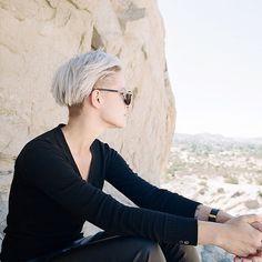 Brittenelle hair inspiration short blonde white hair
