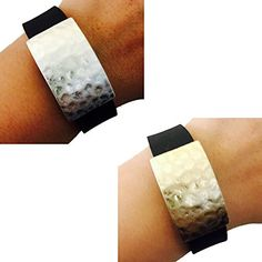 Fitbit Alta, Fitbit Charge, Fitbit Charge HR, Fitbit Flex, Jawbone Up Jewelry - Aged Gold Silver Hammered Geometric PARIS Bracelet Accessory (Aged Gold, Fitbit Alta/ Fitbit Flex/ Jawbone Up) >>> Want to know more, click on the image.