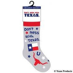 Texas Products Don't Mess with Texas Infant Socks