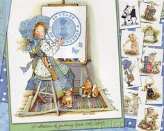 holly hobby   Holly Hobbie art collection of painting Cover Calendario Illustration