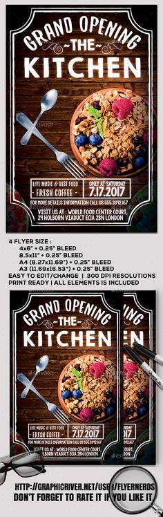 Milk \ Honey Market Grand Opening Flyer from emily ames design - grand opening flyer