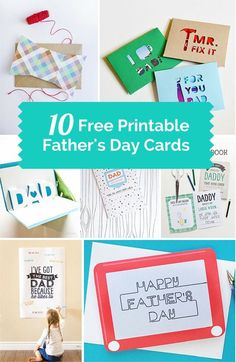Show dad he's #1 with these 10 awesome free printable Father's Day cards!