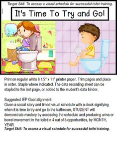 Doing A Poo Social Story  Developmental Delays Adhd And Autism