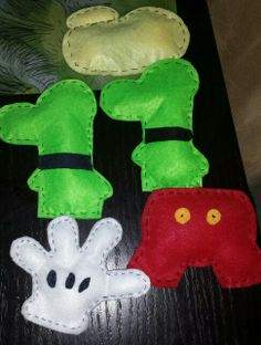 Mickey Mouse Clubhouse DIY ornaments.