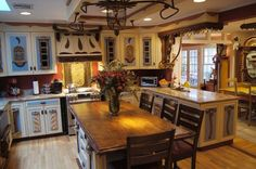 Look Closely, everything adorning this kitchen is sculpted out of recycled materials. Half of the furniture is too.
