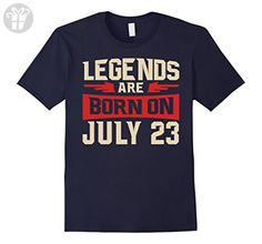 Mens Legends Are Born On july 23 T-shirt - Birthday TShirt XL Navy - Birthday shirts (*Amazon Partner-Link)