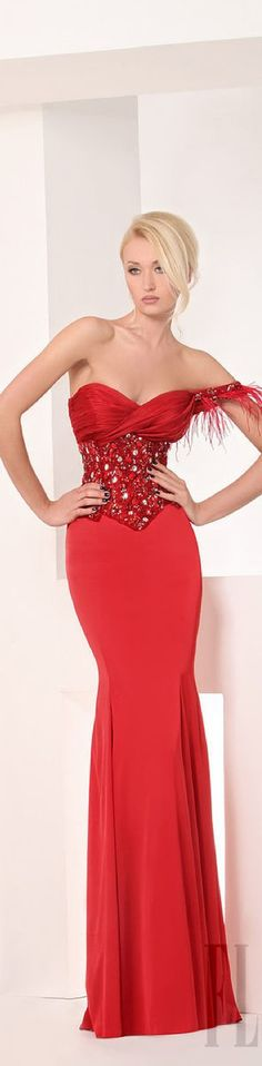 Tony Chaaya Red Gown  2013......wow, this girl is Tiny!!