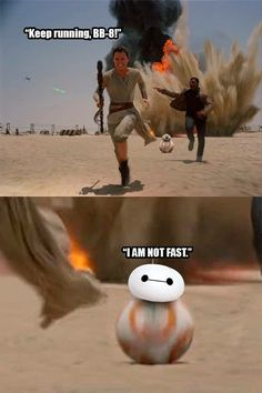 HAHHA this is a Big hero Six and Star Wars crossover!