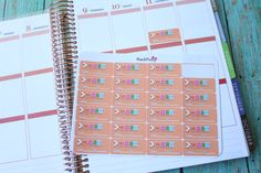 24 Brightly Colored Work to and from Planner Stickers for your Erin Condren Life Planner by PlanItPretty on Etsy