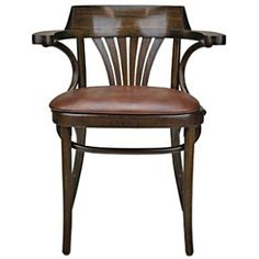 Upholstered New York Cafe Bentwood Armchair Front View Armchair, Stool, Art Deco, York, Bed, House, Furniture, Home Decor, Sofa Chair