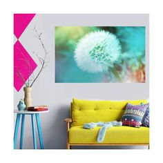 dandelion wall art dandelion print dandelion photography print bedroom... ($9.24) ❤ liked on Polyvore featuring home, home decor and wall art