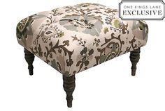 Boyd Ottoman, Ecru adore this ottoman  elegant floral fabric...cozy retreat for living room.