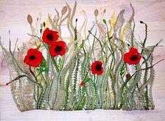 Needle Tatting, Needle Lace, Bobbin Lace Patterns, Lacemaking, Freeform Crochet, Lace Flowers, Fabric Art, Poppies, Bridesmaid