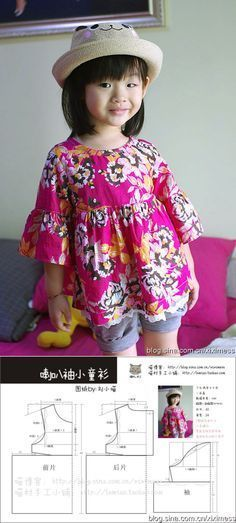 new ideas for dress pattern boho fashion Toddler Dress, Toddler Outfits, Baby Dress, Kids Outfits, Sewing For Kids, Baby Sewing, Sewing Clothes, Diy Clothes, Dress Sewing