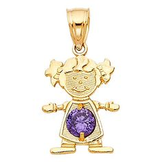Wellingsale 14K Yellow Gold Polished Ornate Religious St ChristopherSaint Christopher Protect Us Charm Pendant