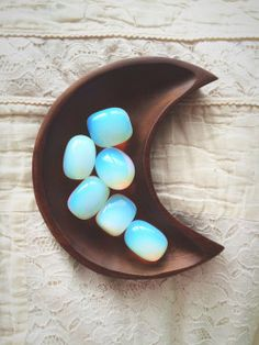 cute kawaii hipster boho indie moon Grunge blue bohemian brown crystal Jewelery accessories decor stone Wood decorations gemstone opal opalite hippe moon child urban      wicca