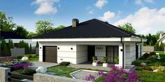 Z443 to wyjątkowy dom z kategorii projekty domów z dachem czterospadowym Little Houses, Home Fashion, Tiny House, House Plans, Sweet Home, Shed, New Homes, Villa, Construction