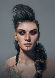 View an image titled 'Pirate Woman Face Art' in our Beyond Good and Evil 2 art gallery featuring official character designs, concept art, and promo pictures. Character Concept, Character Art, Concept Art, Fantasy Portraits, Character Portraits, Fantasy Inspiration, Character Inspiration, Beyond Good And Evil, Pirate Woman