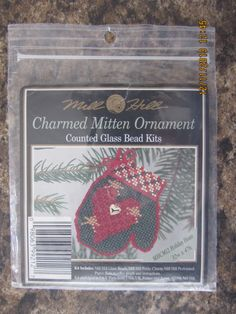 Mill Hill Counted Glass Bead Kits - CHART ONLY - Holiday Heart Stocking from the Charmed Stocking Collection by WhimseysByAnne, $5.00