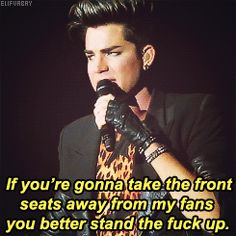 *GIF image* >> you tell 'em gorgeous! Let Me Down, Let It Be, Adam Lambert 2015, Prince Adam, Normal Guys, Crazy Outfits, Glam Rock, Man Alive, American Singers