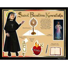 St. Faustina Catholic saint DIY digital download print and cut paper doll