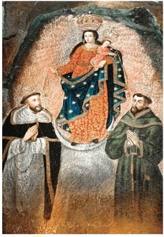 In an event took place in Colombia that continues to baffle geologists and other scientists. This event was the miraculous appearance of the image of Our Lady of Las Lajas (Our Lady of the Rocks). Catholic Religion, Catholic Saints, Francis Of Assisi, St Francis, Mary I, Hail Mary, I Love My Mother, Saint Dominic, Queen Of Heaven
