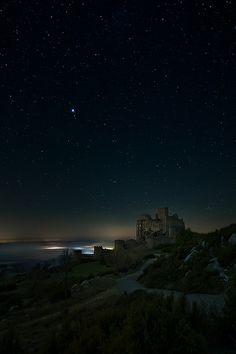 Loarre Castle at night, Spain