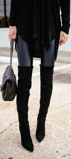 #fall #fashion / all-black everything