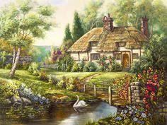 Resultado de imagen de cottages a punto de cruz