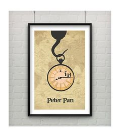 Peter Pan Disney Minimalist Inspired Print Available at Captain's Print Shop on Etsy