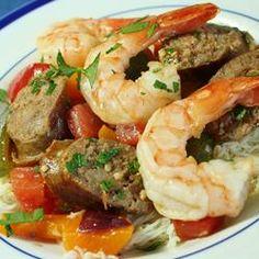 Dee's Sexy, Spicy, Shrimp, Sausage, and Peppers - Allrecipes.com