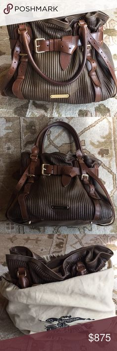 06204434e49 Spotted while shopping on Poshmark  Burberry Belted Ombré Tote Handbag!