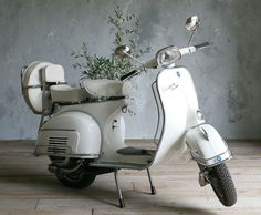 vintage vespa for the Bride !  I would look so good on this !