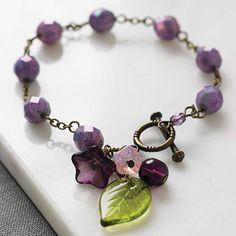 vintage style pansy blossom bracelet by gama | notonthehighstreet.com