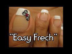 French facil para las Uñas de los Pies /Easy Frech design toe nail art - YouTube Easy, Heart Ring, Nail Designs, Nails, Youtube, Finger Nails, Templates, French Nail Art, Feet Nails