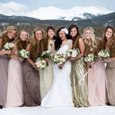 A rustic glam wedding with vintage touches in the Rocky Mountains.