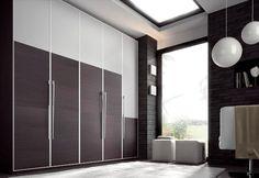Armario en madera oscura y blanco Divider, Room, Furniture, Home Decor, Ideas, Perfect Wardrobe, Dark Wood, Closets, Interior Design