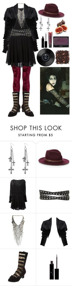 """Lucretia, My Reflection"" by morbid-octobur ❤ liked on Polyvore featuring Miso, Accessorize, Zac Posen, Wet Seal, Emanuele Bicocchi, Forever 21, Pleaser, Vincent Longo, NARS Cosmetics and philosophy"
