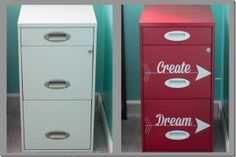 paint a file cabinet on pinterest filing cabinets painted file. Black Bedroom Furniture Sets. Home Design Ideas
