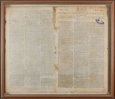 """Rare Benjamin Franklin-Owned Newspaper Unearthed at Auction Reveals Stunningly Simple Text of Historic Moment - """"Philadelphia, July Yesterday the Continental Congress declared the United Colonies free and independent states. George Santayana, History Major, Bill Of Rights, World Religions, Benjamin Franklin, Our Country, Newspaper, American History, Cool Pictures"""