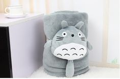 My Neighbor Totoro Throw Blanket with Plush Doll