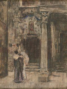 Walter Richard Sickert 'Pierrot and Woman Embracing', c.1901