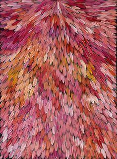Raymond Walters Japanagnka Emu Dreaming, 2008 Acrylic on Belgian Linen Cool Patterns, Textures Patterns, Colorful Artwork, Indigenous Art, Angel Art, Aboriginal Art, Inspiring Art, African Fabric, Paper Background