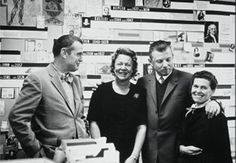 Charles and Ray Eames with Willi and Erika Fehlbaum, 1957