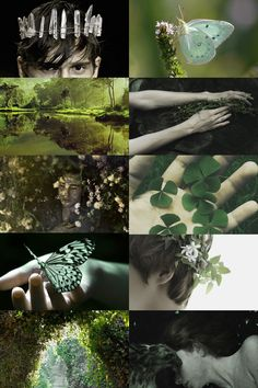 male faerie aesthetic by Skogsra Fae Aesthetic, Aesthetic Collage, Woodland Creatures, Mythical Creatures, Male Fairy, Male Witch, Fantasy Forest, Faeries, Aesthetic Wallpapers