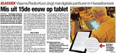 An article (in Dutch) about the Flemish Radio Choir using tablets to read music. They are using Samsung Galaxy Note tablets with neoScores as the music reader. Galaxy Note 10, Ipads, Dutch, Sheet Music, Samsung Galaxy, Van, Reading, Memes, Dutch Language